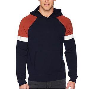 Vince Men's Color Block Pullover Hoodie Sweatshirt